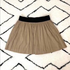 BCBGMaxazria Kaysa Faux Suede Pleated Mini Skirt